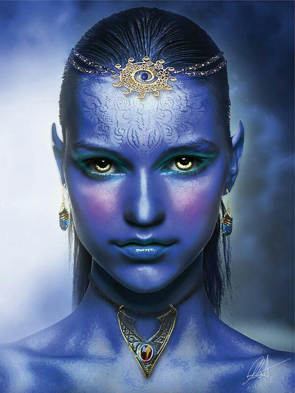 Angelic Blue Paint